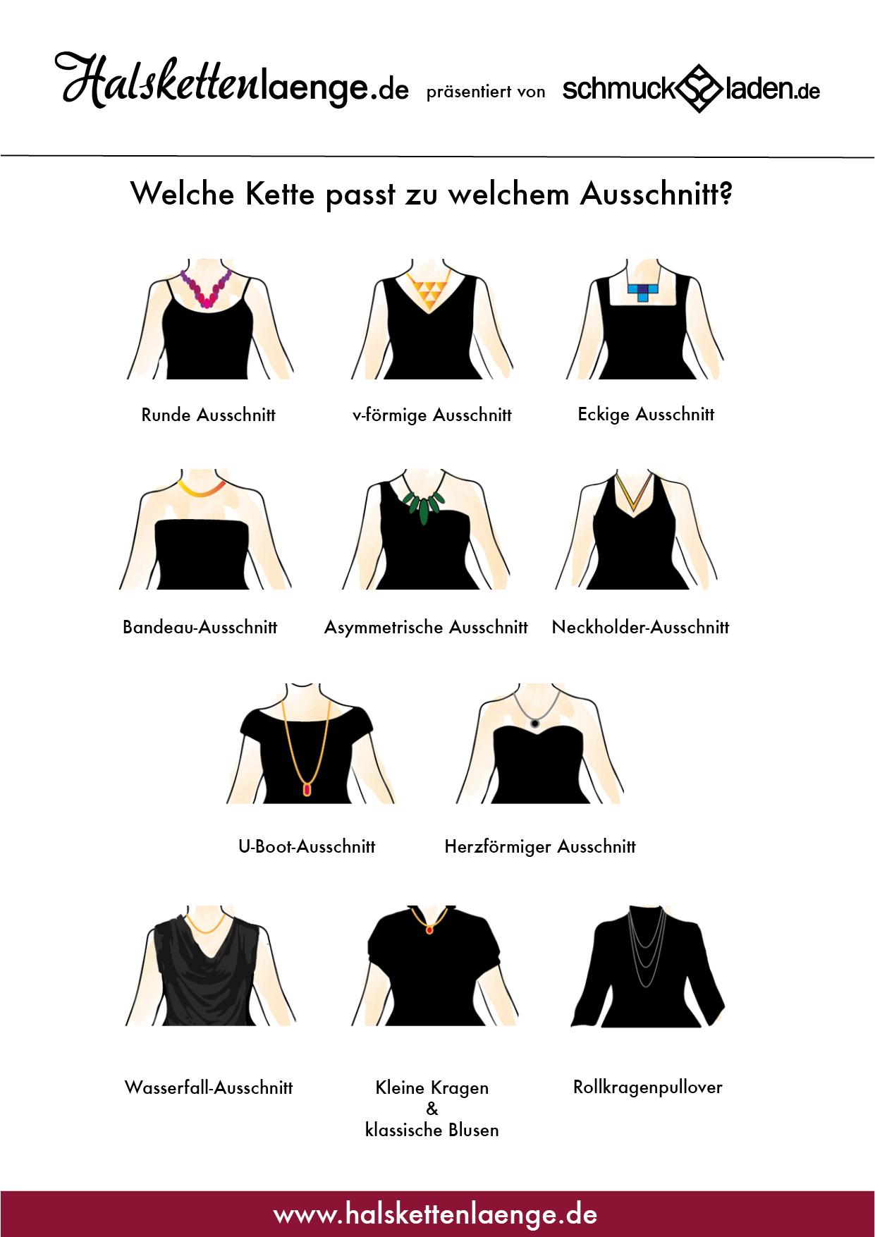 Brautschmuck neckholder  Welche Kette passt zu welchem Ausschnitt? Halskettenlänge